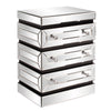 Stately Living Room  End table Howard Elliott 3-Tiered Mirrored End Table w/ Drawers