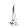 Stately Table Top Object Howard Elliott Mirrored Obelisk with Glass Ball - Small