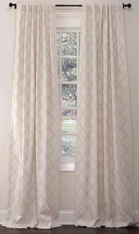 Stately Window Treatments Emdee Drapery Arabesque Ivory 116302