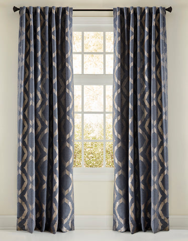 Stately Window Treatments Emdee Drapery Avery Blue 125010