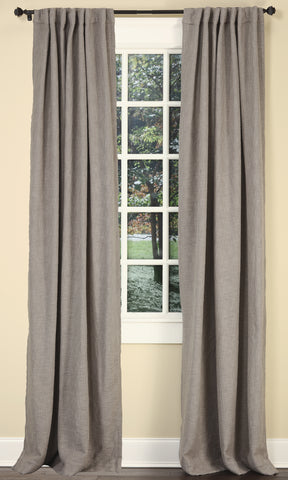 Stately Window Treatments Emdee Drapery Boucle Gray 12016