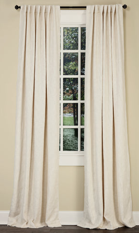 Stately Window Treatments Emdee Drapery Boucle Ivory 12014
