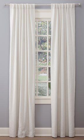 Stately Window Treatments Emdee Drapery Boucle White 12015