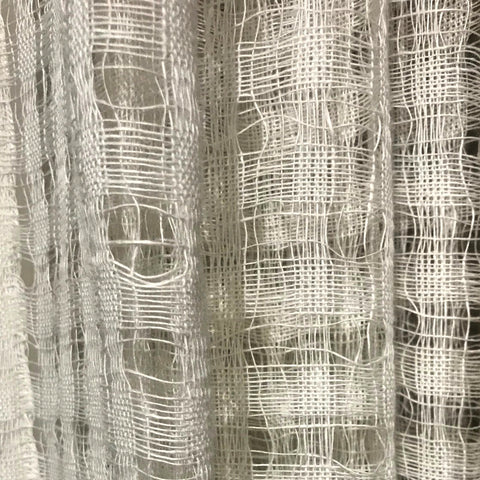 Stately Window Treatments Emdee Drapery Check Sheer Ivory 11878