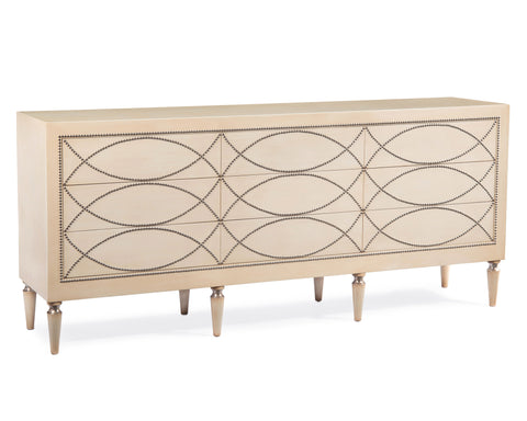John-Richard Two Tone Credenza With Silver - EUR-04-0335