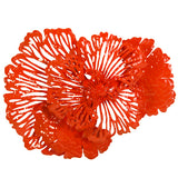 Phillips Collection Flower Wall Art, Coral, SM Orange Red TH83080