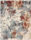 Nourison Artworks ATW01 Grey and Red 8'x10'   Rug - 8' x 10' Rectangle Slate Multi Rug - ATW01 - 99446709103