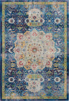 Nourison Ankara Global 4' x 6' Blue Oushak Area Rug - 4' x 6' Rectangle Blue Rug - ANR03 - 99446456588