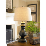Northdell Metal Table Lamp In Dark Bronze