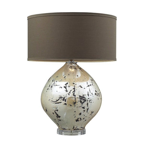 Crown Lighting Dimond Collection Limerick Table Lamp In Turrit With Brown Linen Shade - D2262