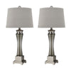 Crown Lighting Dimond Collection Onassis Table Lamps in Nickel Finish - Set of 2 - D2339/S2