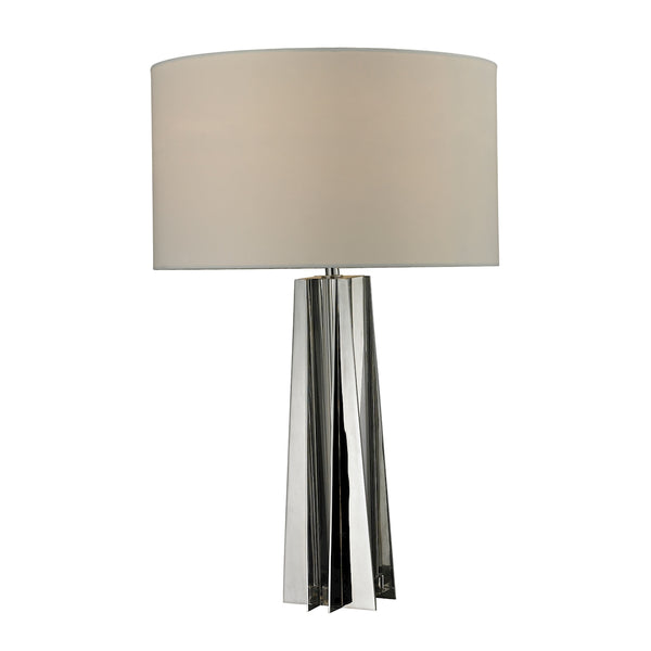 Crown Lighting Dimond Collection Ranick Clear Crystal Table Lamp in Chrome - D2421
