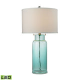 Crown Lighting Dimond Collection Glass Bottle LED Table Lamp in Seafoam Green - D2622-LED