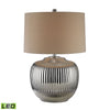 Crown Lighting Dimond Collection Oversized Ribbed Ceramic LED Table Lamp in Silver - D2640-LED