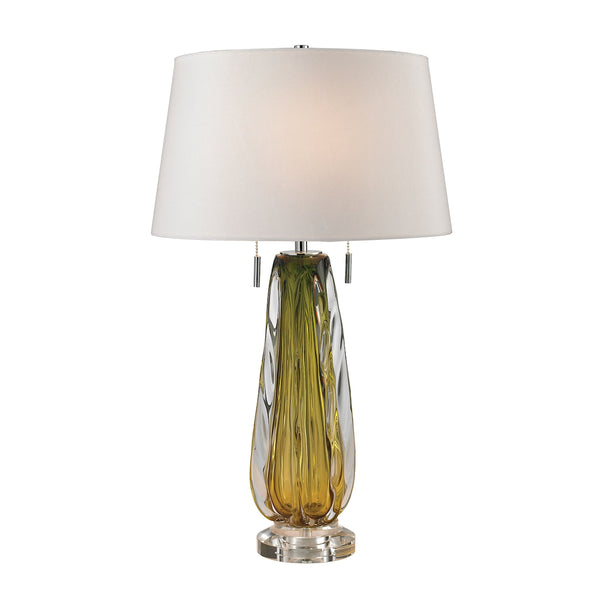 Crown Lighting Dimond Collection Modena Free Blown Glass Table Lamp in Green - D2670W