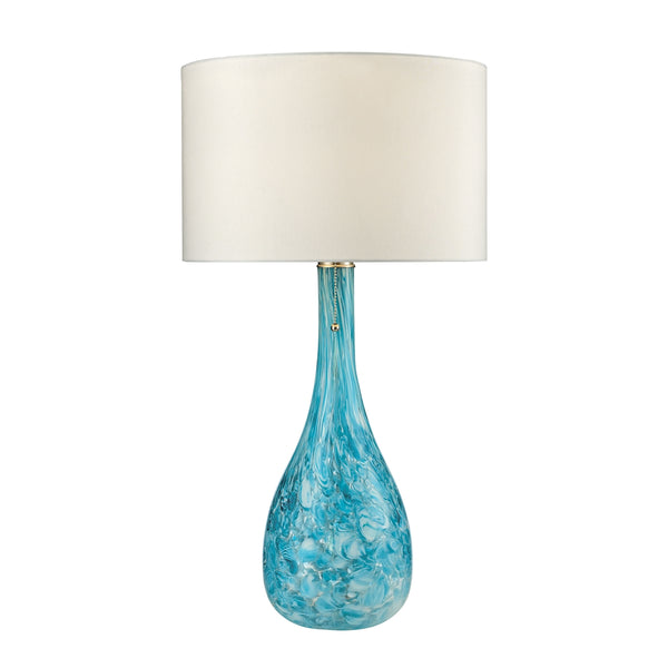 Crown Lighting Dimond Collection Mediterranean Blown Glass Table Lamp in Seafoam - D2691