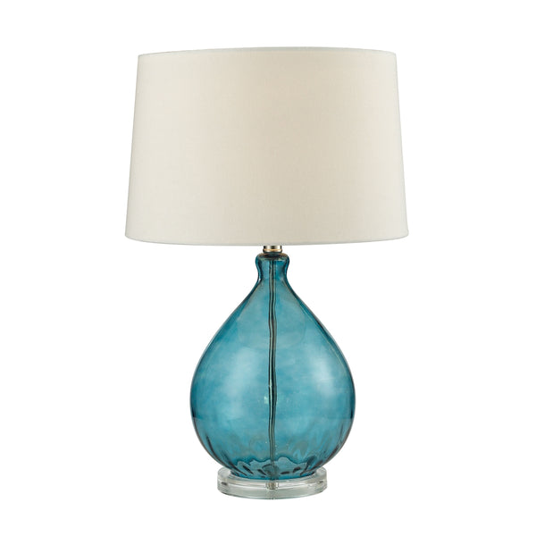 Crown Lighting Dimond Collection Wayfarer Glass Table Lamp in Teal - D2692