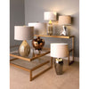 Oversized Blown Glass Table Lamp in Bronze Plated Finish