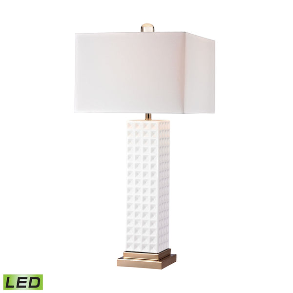 Crown Lighting Dimond Collection White Stud Ceramic LED Lamp - D2758-LED