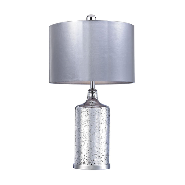 Crown Lighting Dimond Collection Silver Mercury Table Lamp With Metallic Shade - D2773