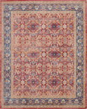 Nourison Ankara Global 9' x 12' Red and Blue Multicolor Persian Area Rug - 9' x 12' Rectangle Red Rug - ANR02 - 99446456502