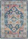Nourison Ankara Global Blue/Multicolor Area Rug - 5' x 8' Rectangle Blue/Multicolor Rug - ANR11 - 99446498076