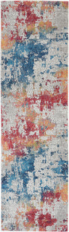Nourison Ankara Global 8' Runner Multicolor Abstract  - 2' x 8' Runner Multicolor Rug - ANR10 - 99446474957