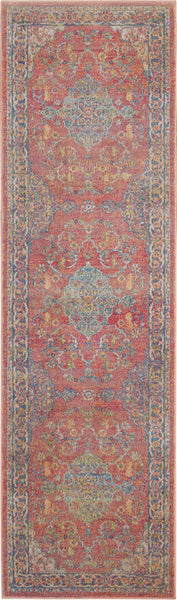 Nourison Ankara Global 8' Runner Multicolor Persian Area Rug - 2' x 8' Runner Multicolor Rug - ANR01 - 99446456304