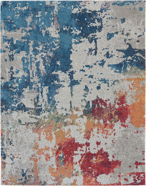 Nourison Ankara Global 9' x 12' Multicolor Abstract  - 9' x 12' Rectangle Multicolor Rug - ANR10 - 99446475015