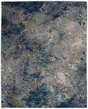 Nourison Artworks ATW02 Blue and Grey 9'x12'   Rug - 9' x 12' Rectangle Blue/Grey Rug - ATW02 - 99446710734