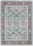 Nourison Ankara Global Teal/Multicolor Area Rug - 5' x 8' Rectangle Teal/Multicolor Rug - ANR14 - 99446498441