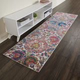 Ankara Global Ivory/Blue 2' x 6' Runner