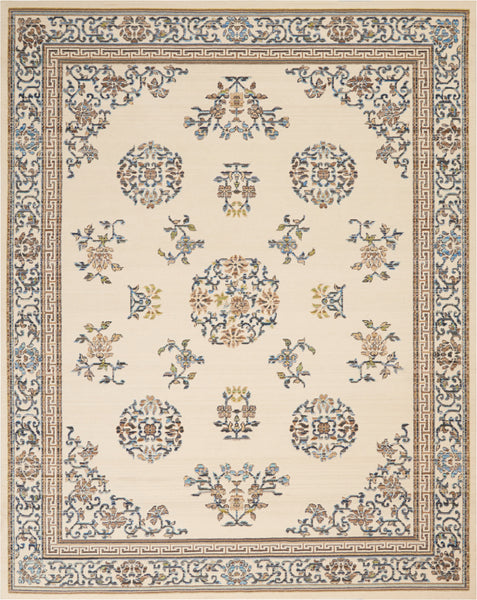 Nourison Barclay Butera Ivory Area Rug - 9' x 12' Rectangle Ivory Rug - BB204 - 99446147202