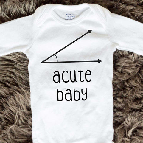 Acute Baby Onesies - Black words - Long Sleeve