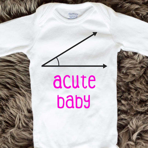 Acute Baby Onesies - Pink words - Long Sleeve