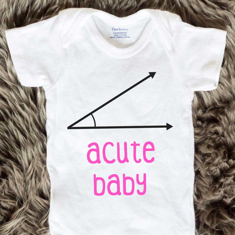 Acute Baby Onesies - Pink words - Short Sleeve