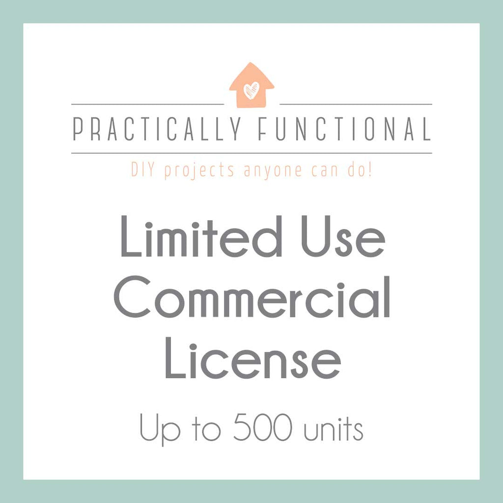 Limited Use Commercial License - up to 500 units