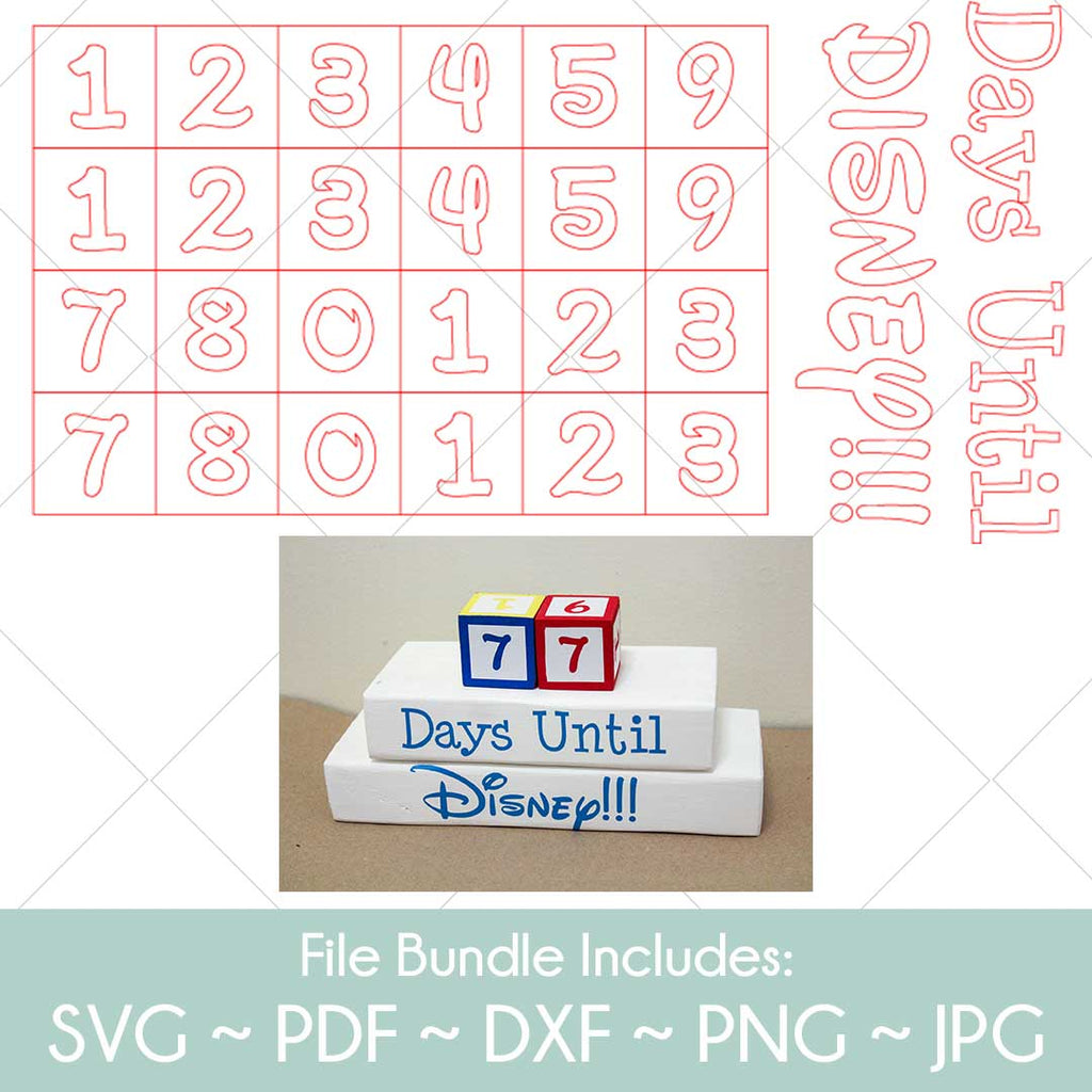 Disney Countdown Clock - SVG Cut File Bundle