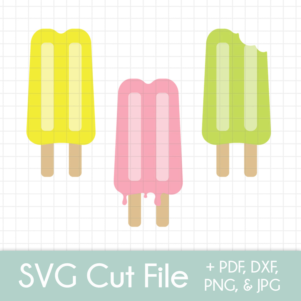 Double Popsicles (3 pack) - SVG Cut File Bundle