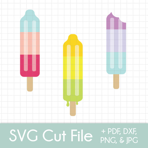 Rocket Popsicles (3 pack) - SVG Cut File Bundle