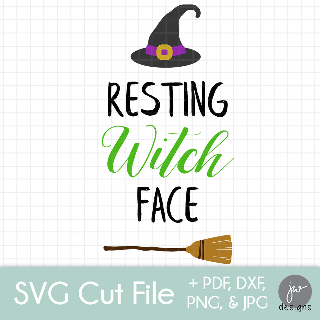Resting Witch Face - SVG Cut File Bundle