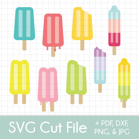 Summer Popsicles - SVG Cut Files - Mega 9 Pack Bundle!