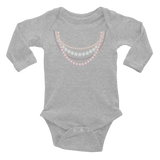 Pearl Necklace Strands Infant Long Sleeve Bodysuit