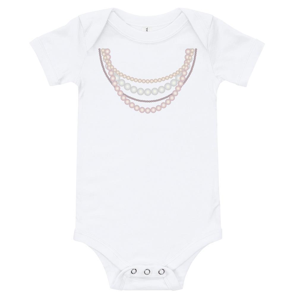 Pearl Necklace Strands Baby Bodysuit