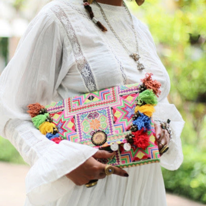 Boho Tassel Clutch Bag