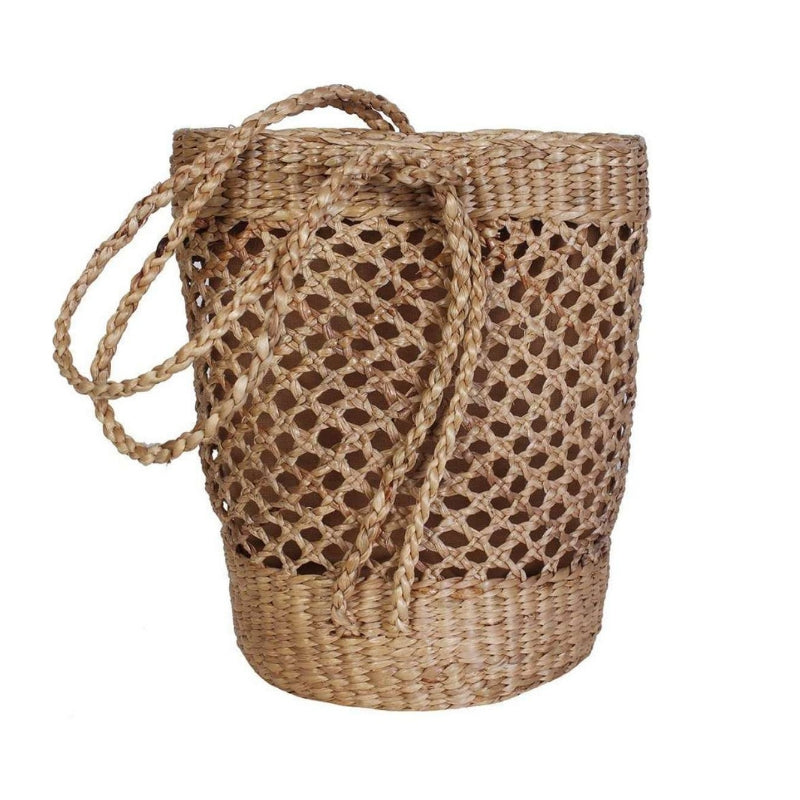 No.24 - Women's Fisherman Woven Basket Tote Bag