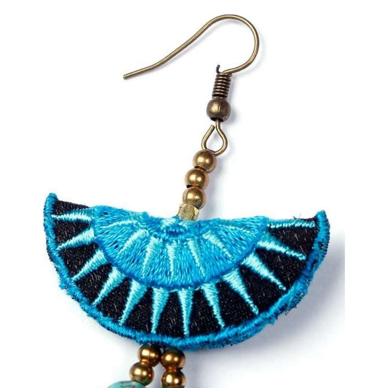 No.24 - Women's Blue Tassel Earrings