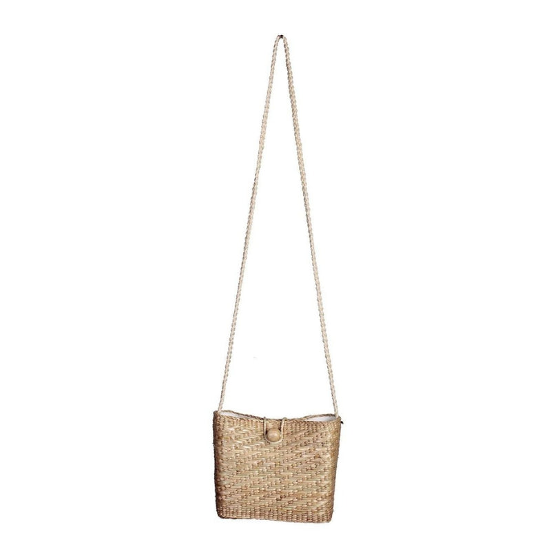 No.24 Women's Mini Woven Basket Shoulder Bag Natural