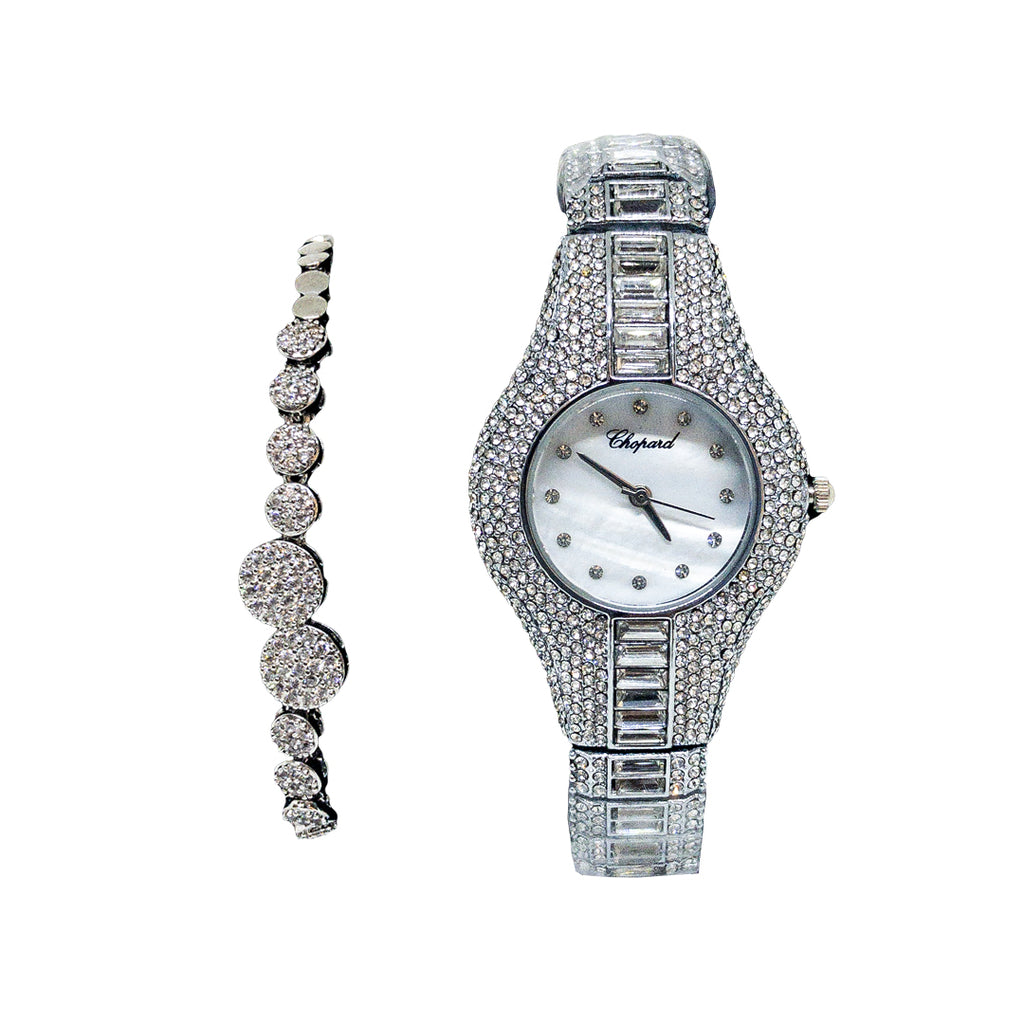 Diamond Chopard Replica Watch With Braclet