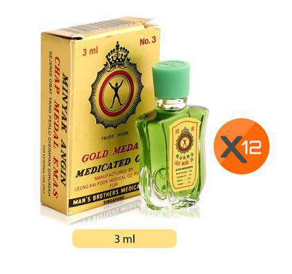 GOLD MEDAL MEDICATED OIL 3ML X 12PCS PACK